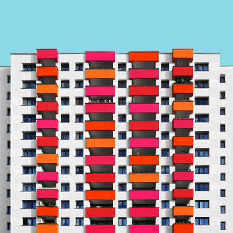 completely rectangular - Berlin colorful facades modern architecture photography