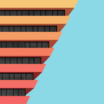 study no. 2 colorful facades modern architecture photography