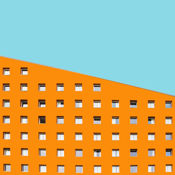 Slope - Berlin colorful facades modern architecture photography