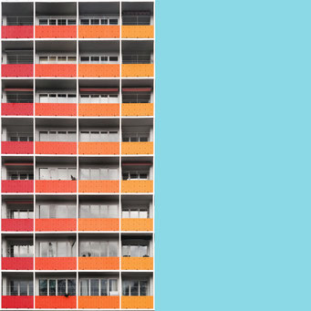 grid - Berlin colorful facades modern architecture photography