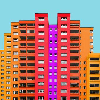 concrete mountain - Berlin colorful facades modern architecture photography