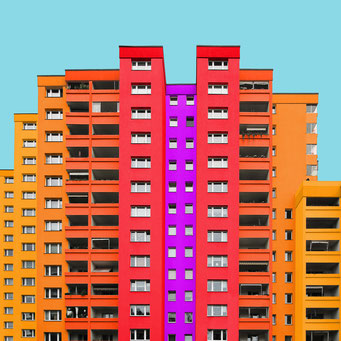 concrete mountain - Berlin colorful facades modern architecture photography