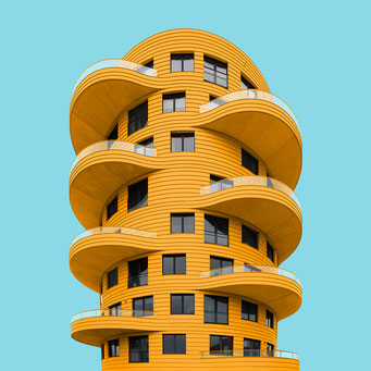 organic forms - Utrecht  colorful facades modern architecture photography