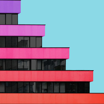 five steps - Berlin colorful facades modern architecture photography