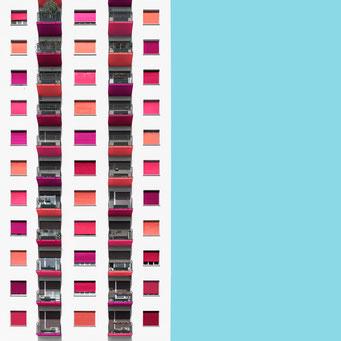 straight facade - milano colorful facades modern architecture photography