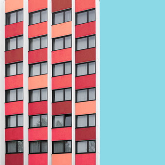 24 Windows - Linz colorful facades modern architecture photography