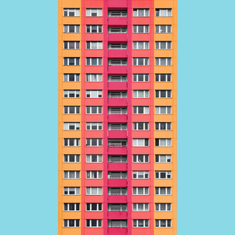 just rectangles - Berlin colorful facades modern architecture photography