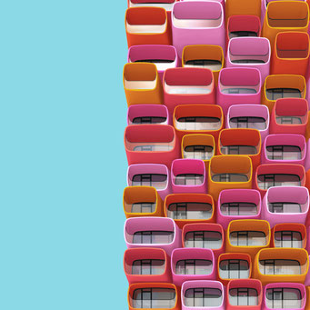 study no. 1 colorful facades modern architecture photography