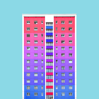 The box - Linz colorful facades modern architecture photography