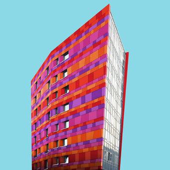 Razor Blade - Berlin colorful facades modern architecture photography