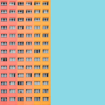 rectangular pattern - Berlin colorful facades modern architecture photography