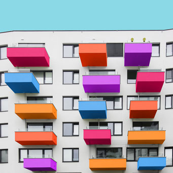 disordered - Vienna colorful facades modern architecture photography