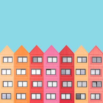 houses - Utrecht colorful facades modern architecture photography