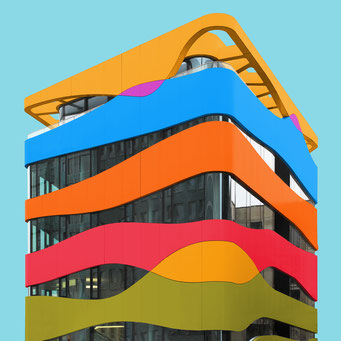 Plastic building - Berlin colorful facades modern architecture photography