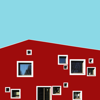 Playful windows - Linz colorful facades modern architecture photography