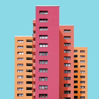 High-rise - Berlin colorful facades modern architecture photography