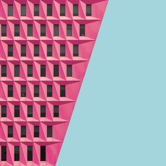pink pattern - bogota colorful facades modern architecture photography