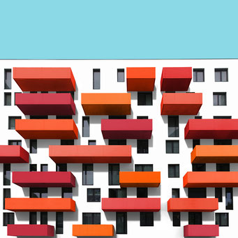 Horizontal - Vienna colorful facades modern architecture photography