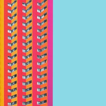 Zig Zag facade - Berlin colorful facades modern architecture photography