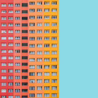 block - Berlin colorful facades modern architecture photography