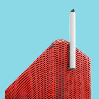 Power station - Copenhagen colorful facades modern architecture photography