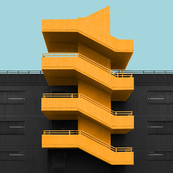 simple stairs - berlin  colorful facades modern architecture photography
