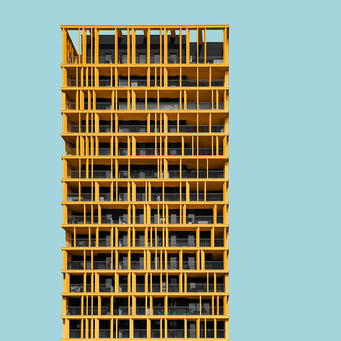 playful facade pattern - milano  colorful facades modern architecture photography