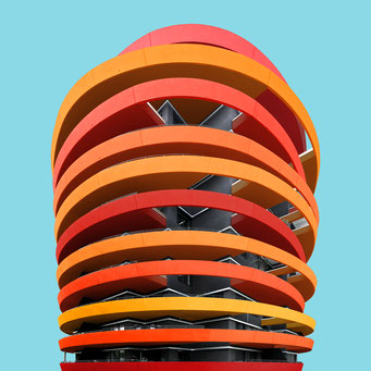 disks - Vienna colorful facades modern architecture photography