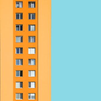 Pastel - Bratislava colorful facades modern architecture photography