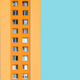 Pastel - Bratislava colorful facades modern architecture photography