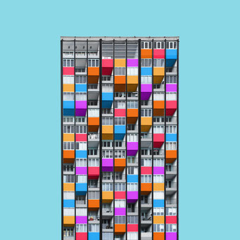 Pixels - Berlin colorful facades modern architecture photography