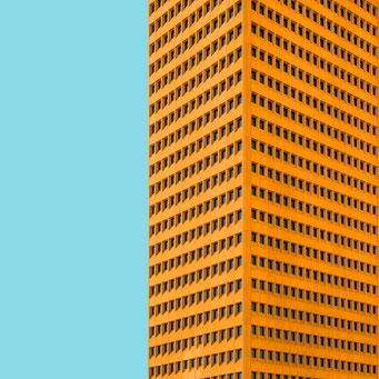 skyscraper - Rotterdam colorful facades modern architecture photography