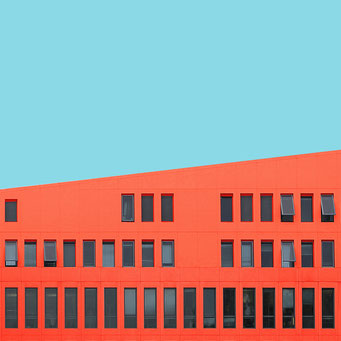 inclined plane - Berlin colorful facades modern architecture photography
