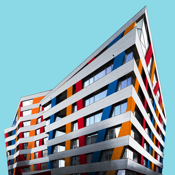 Sapphire - Berlin colorful facades modern architecture photography