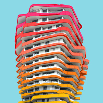 The coral - Hamburg colorful facades modern architecture photography