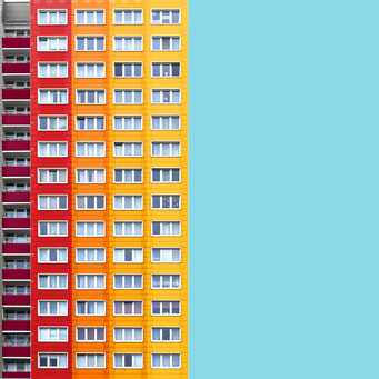 Just some rectangles - Berlin colorful facades modern architecture photography