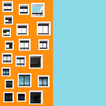 Chaos - Vienna colorful facades modern architecture photography