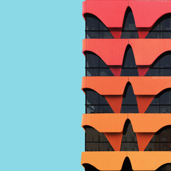 urban waves - Berlin colorful facades modern architecture photography