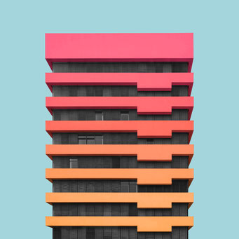 office block - Berlin  colorful facades modern architecture photography