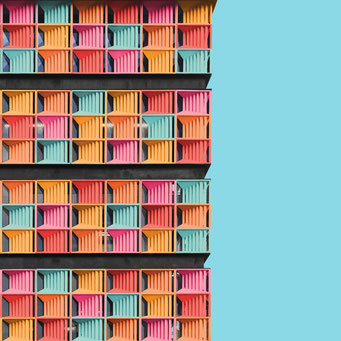 pixelated - Medellín colorful facades modern architecture photography