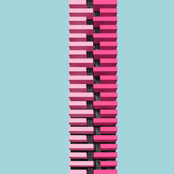 zipper - milano  colorful facades modern architecture photography