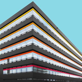 Black box - Bremerhaven colorful facades modern architecture photography