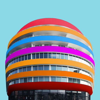 blob - wroclaw colorful facades modern architecture photography