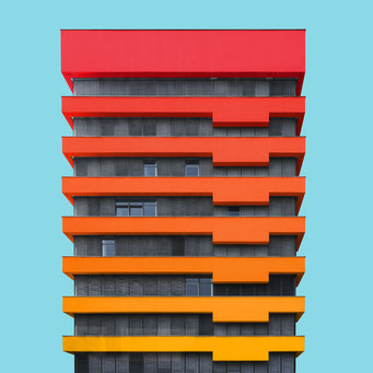 Just an office block - Berlin colorful facades modern architecture photography