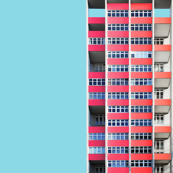 half and half - berlin colorful facades modern architecture photography