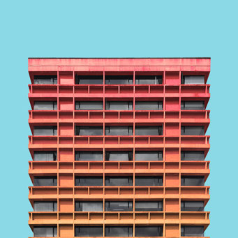 concrete facade - Bogotá colorful facades modern architecture photography