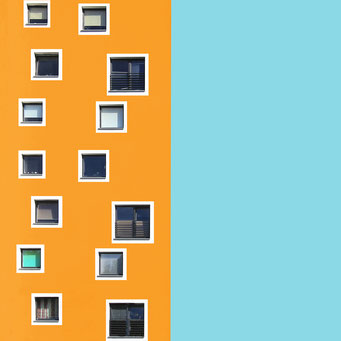 disordered - szczecin colorful facades modern architecture photography