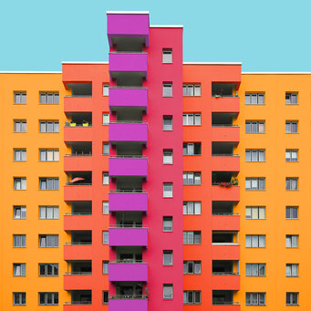 strictly right-angled - Berlin colorful facades modern architecture photography