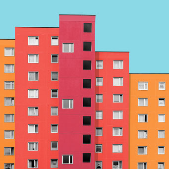 concrete slabs - Berlin colorful facades modern architecture photography