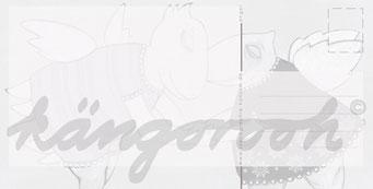 """Postkarte """"die engelin"""" / Detail 2 /kängorooh/ 2016"""